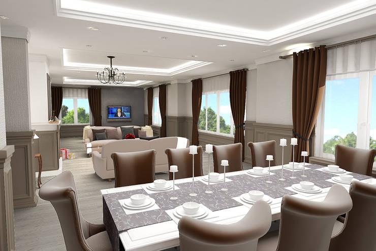 teknogrup design – Villa: rustik tarz tarz Yemek Odası