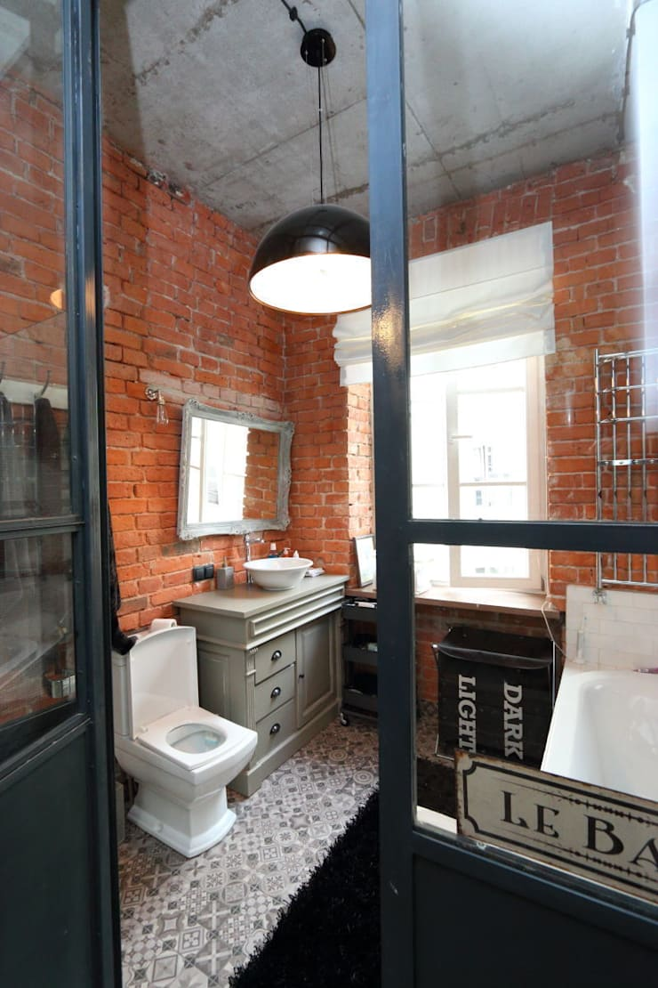 loft: styl , w kategorii Łazienka zaprojektowany przez livinghome wnętrza Katarzyna Sybilska