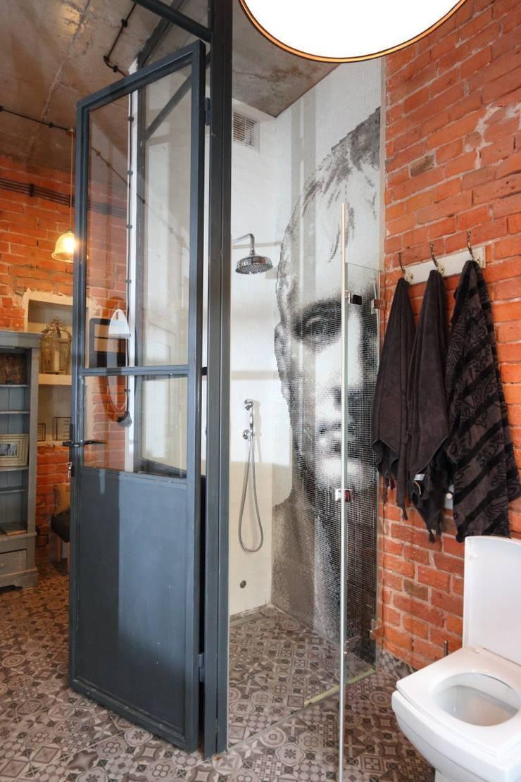 loft kabina prysznicowa : styl , w kategorii Łazienka zaprojektowany przez livinghome wnętrza Katarzyna Sybilska