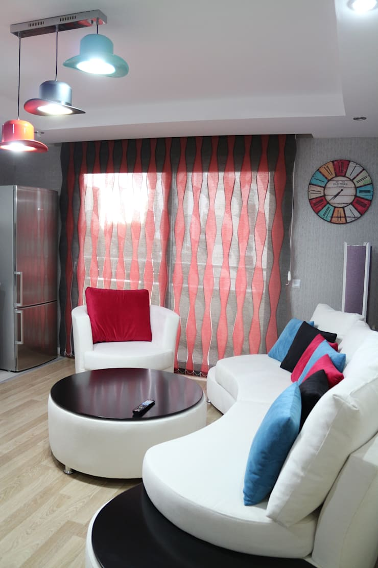 ByTUNAS PERDE – S-DİKEY PERDE:  tarz Pencere & Kapılar
