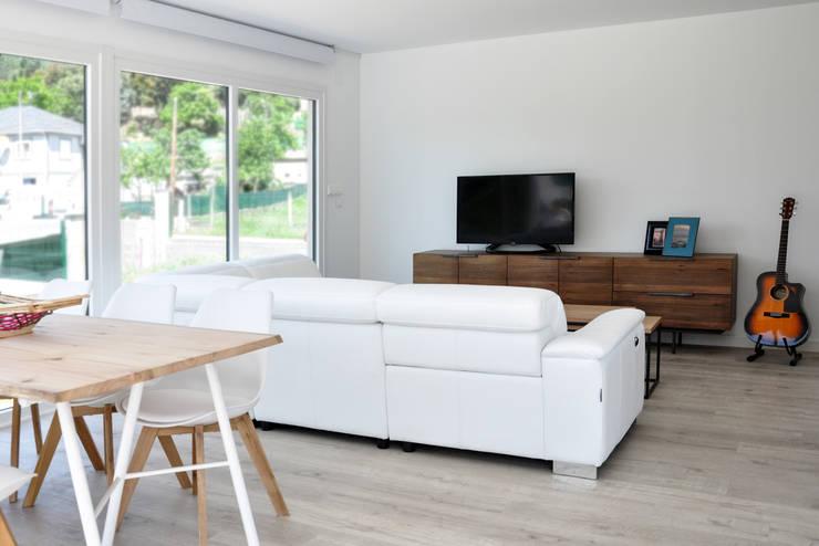 Casas Cube: modern tarz Oturma Odası