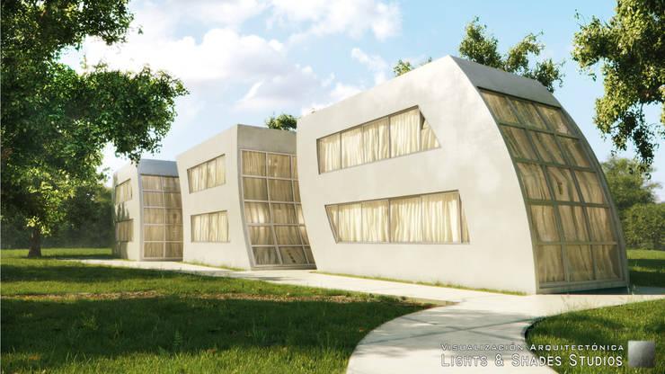 Casas Modulares: Casas de estilo  por Lights & Shades Studios