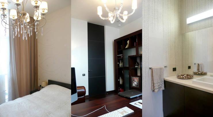 Квартира 130 кв.м. в ЖК <q>Дипломат</q>: Рабочие кабинеты в . Автор – Студия Максима Рубцова.