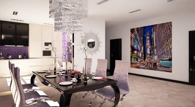 Квартира 140 кв.м. в ЖК <q>Премьер</q>.: Гостиная в . Автор – Студия Максима Рубцова.