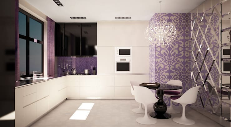 Квартира 140 кв.м. в ЖК <q>Премьер</q>.: Кухни в . Автор – Студия Максима Рубцова.