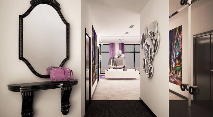 Квартира 140 кв.м. в ЖК <q>Премьер</q>.: Коридор и прихожая в . Автор – Студия Максима Рубцова.