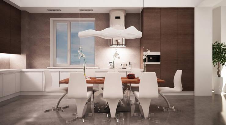 Квартира 420 кв.м. в ЖК <q>Остоженка Парк Палас</q>: Кухни в . Автор – Студия Максима Рубцова.