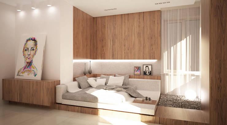 """Квартира 420 кв.м. в ЖК """"Остоженка Парк Палас"""": Спальни в . Автор – Студия Максима Рубцова."""