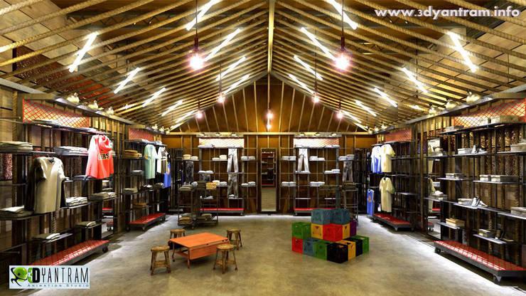 Yantram Architectural Design Studio:  tarz Ofis Alanları & Mağazalar