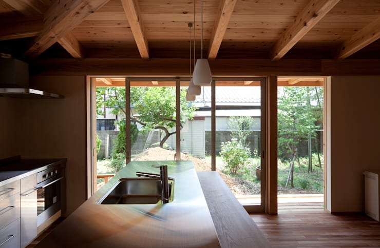 Kitchen by 株式会社 けやき建築設計