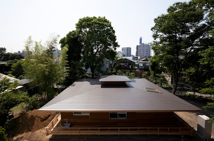 森の舟屋  自然に逆らわない「素」の住まい: 株式会社 けやき建築設計が手掛けた家です。