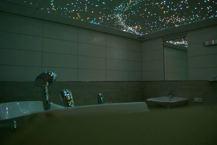 sterrenhemel verlichting plafond led glasvezel star ceiling fiber optic badkamer sauna ledstrips verlichting plafond luxe mooie