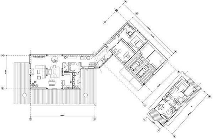 """Дом """"Woodlark"""" - комбинированные конструкции:  в . Автор – NEWOOD - Современные деревянные дома"""