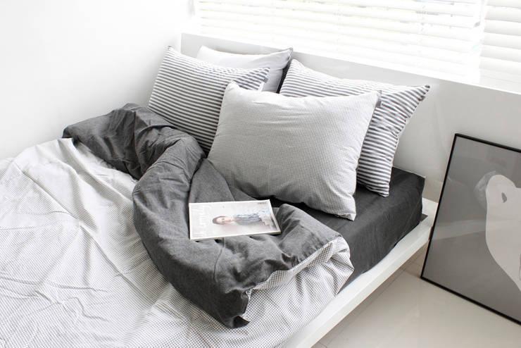 집을 꾸미는 가장 간단한 방법,  패브릭: mushroommate의  침실