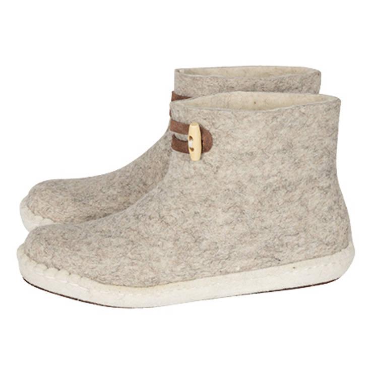 Vilten dames en herenslof High Boots Light grey:   door esgii, Landelijk