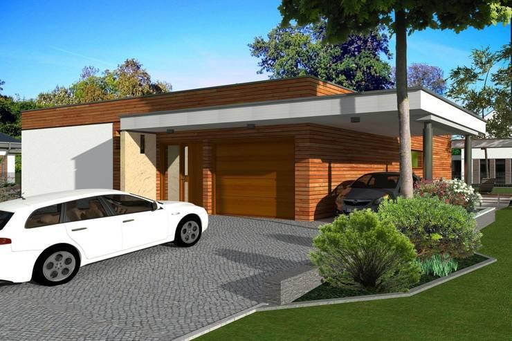 Domy pasywne: styl , w kategorii Domy zaprojektowany przez ABC Pracownia Projektowa Bożena Nosiła - 1