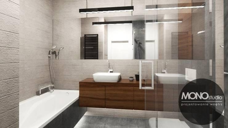 Urocze mieszkanie zaaranżowane w nowoczesnym stylu: styl , w kategorii Łazienka zaprojektowany przez MONOstudio,