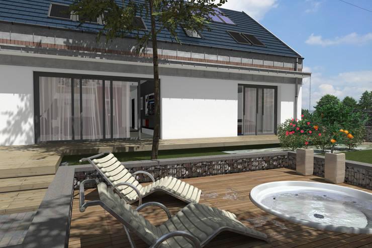 Dom Passive_Nord: styl nowoczesne, w kategorii Domy zaprojektowany przez ABC Pracownia Projektowa Bożena Nosiła