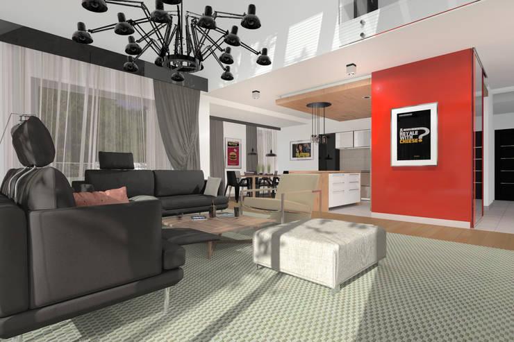 Dom Passive_Nord: styl , w kategorii Salon zaprojektowany przez ABC Pracownia Projektowa Bożena Nosiła