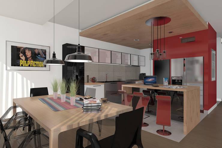 Dom Passive_Nord: styl , w kategorii Jadalnia zaprojektowany przez ABC Pracownia Projektowa Bożena Nosiła