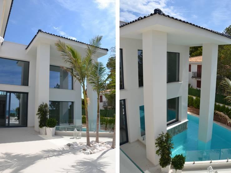 Casa Nathalia: Casas de estilo  de Alicante Arquitectura y Urbanismo SLP