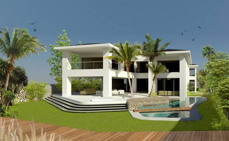 Casa Nathalia:  de estilo  de Alicante Arquitectura y Urbanismo SLP