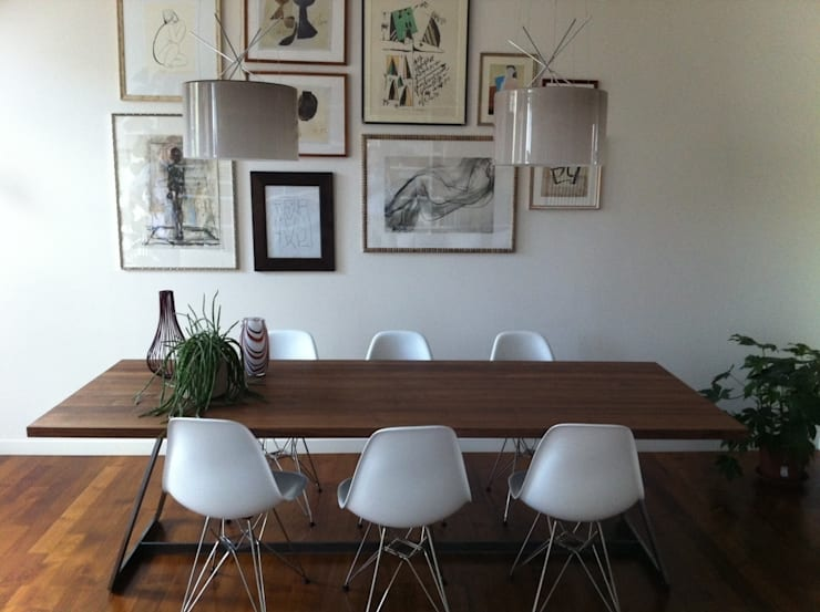 Appartamento a Milano: Sala da pranzo in stile  di Karin Künzli