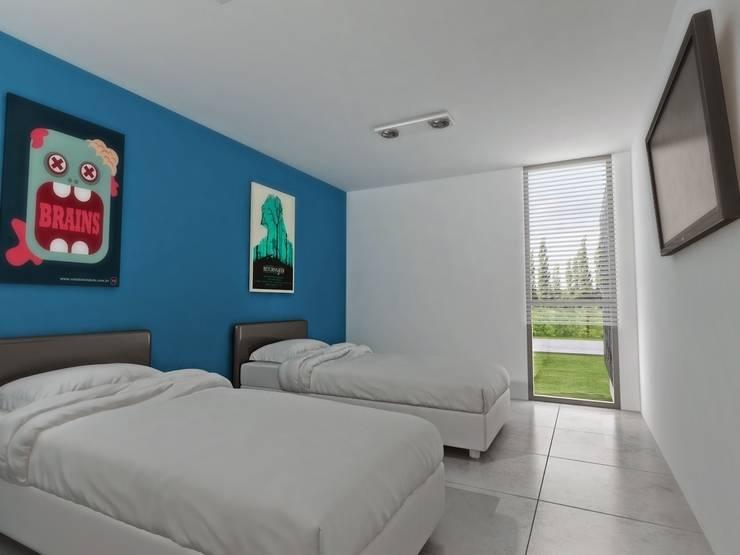 Vivienda Unifamiliar en Plottier, Neuquen, Patagonia: Dormitorios de estilo moderno por Chazarreta-Tohus-Almendra