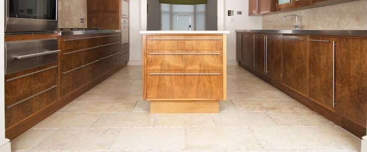 American Black Walnut Kitchen designed and made by Tim Wood: modern Kitchen by Tim Wood Limited