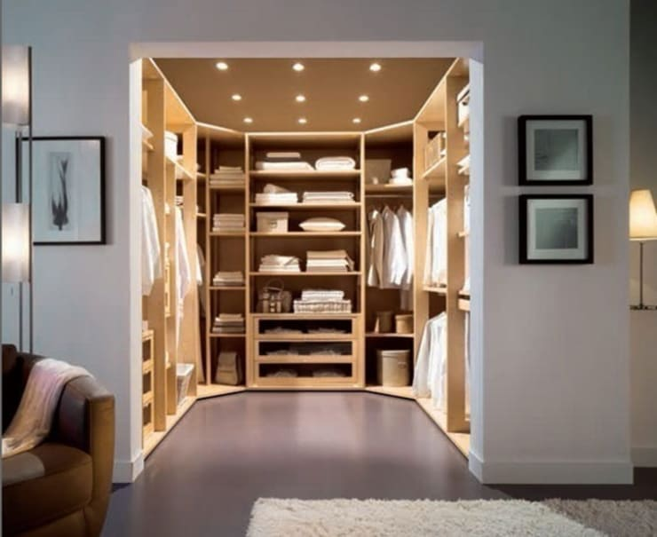 Dressing room تنفيذ Metro Wardrobes and Kitchens Ltd