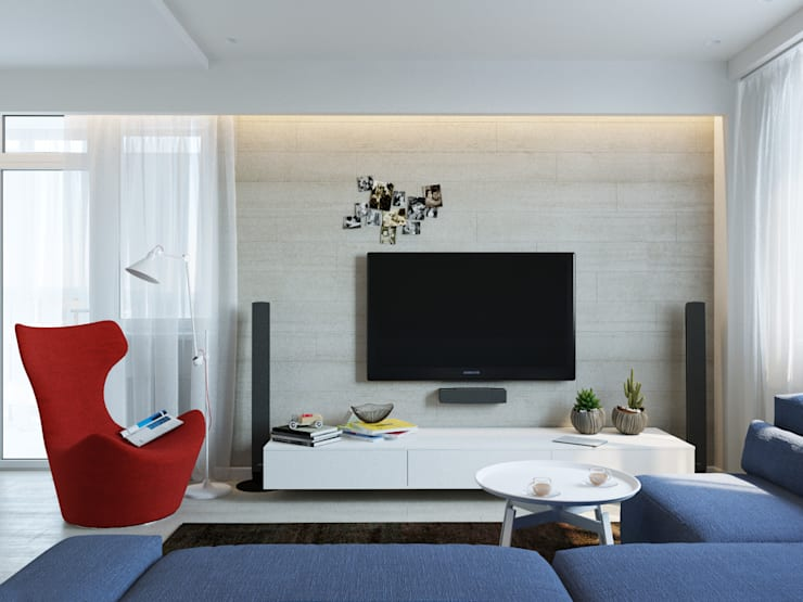 Living room by Оксана Мухина, Minimalist