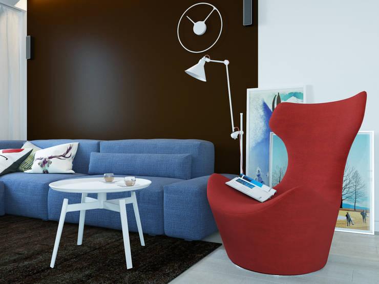ห้องนั่งเล่น โดย Оксана Мухина, มินิมัล