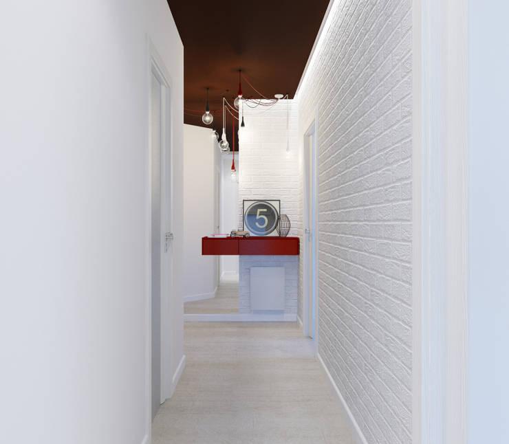 Minimalist corridor, hallway & stairs by Оксана Мухина Minimalist