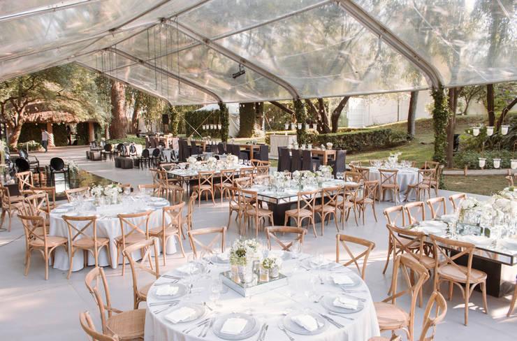 Montaje Evento: Jardín de estilo  por Elemento Tres