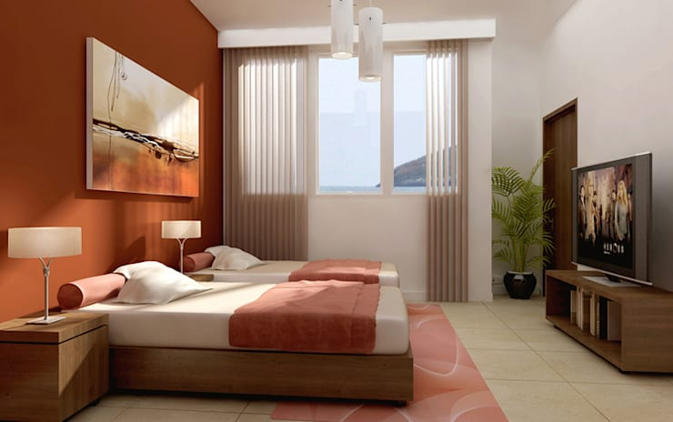 Bedroom by Entretrazos, Modern