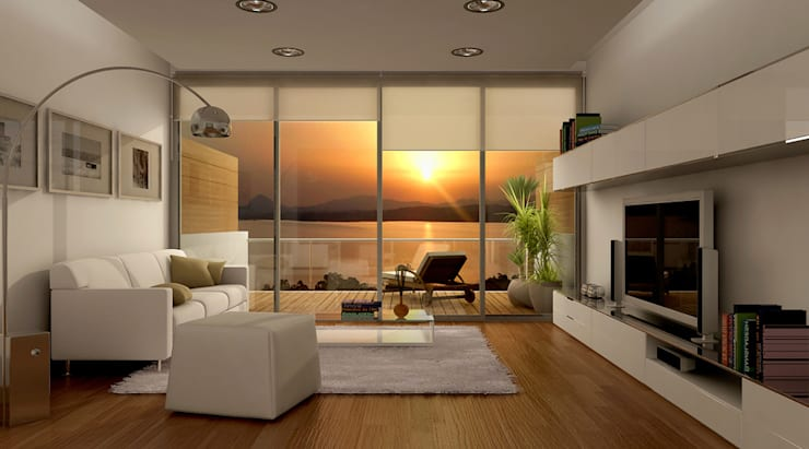 Living room by Entretrazos, Modern