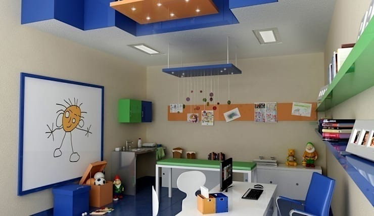 Renders interiores: Dormitorios infantiles de estilo  por Entretrazos