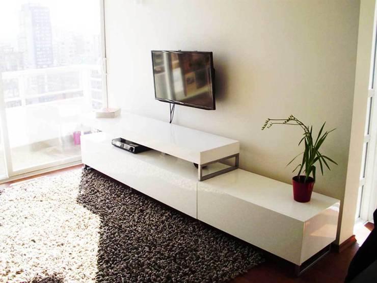 Proyectos de interiores varios: Livings de estilo  por ZYX estudio,Moderno