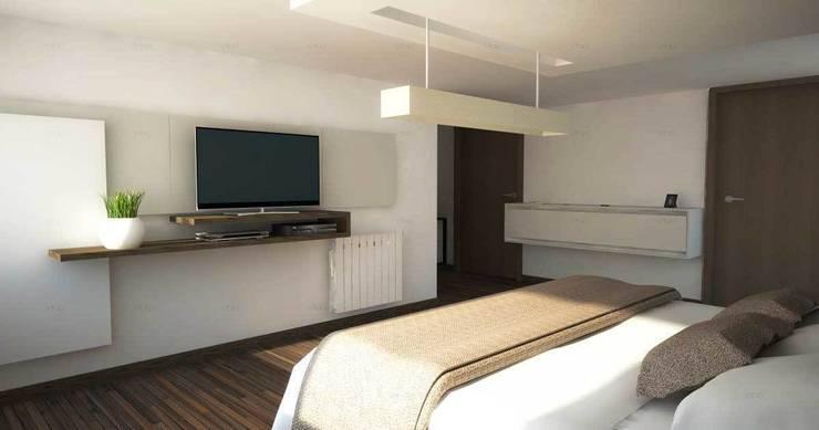 Proyectos de interiores varios: Dormitorios de estilo  por ZYX estudio,Moderno