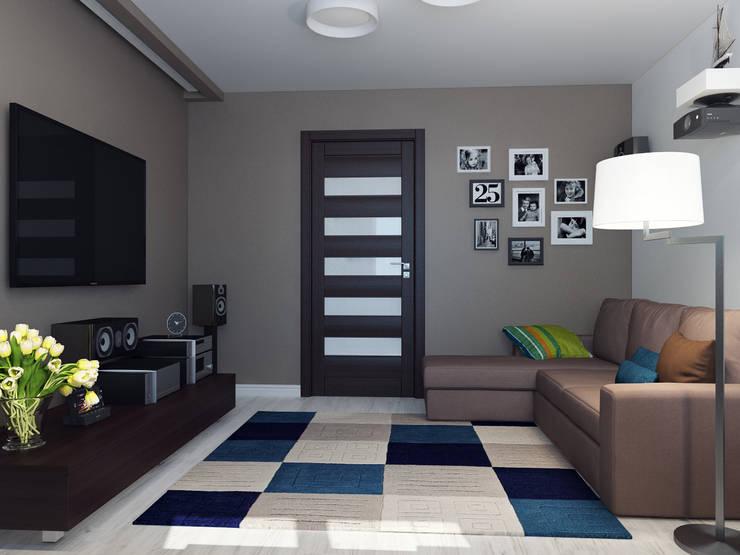 Квартира двухкомнатная для молодой семьи: Гостиная в . Автор – Оксана Мухина