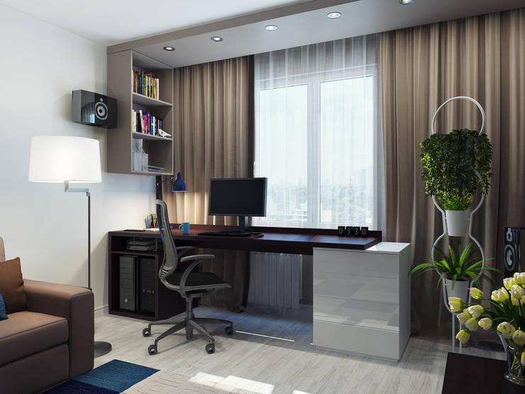Квартира двухкомнатная для молодой семьи: Гардеробные в . Автор – Оксана Мухина
