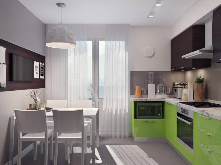 Квартира двухкомнатная для молодой семьи: Кухни в . Автор – Оксана Мухина