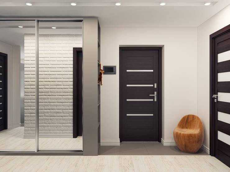 Квартира двухкомнатная для молодой семьи: Коридор и прихожая в . Автор – Оксана Мухина