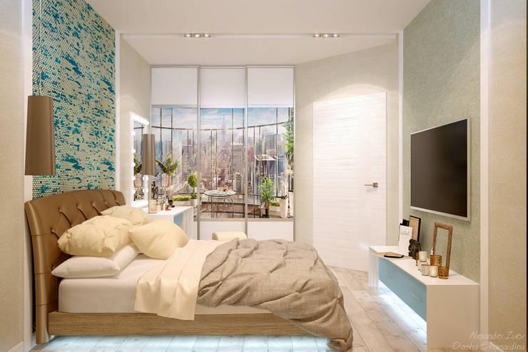 Schlafzimmer von Студия интерьерного дизайна happy.design, Modern
