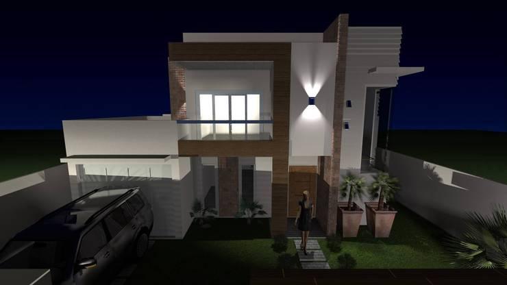 Residencia : Casas ecléticas por Daiana Pasqualon Arquitetura & Urbanismo