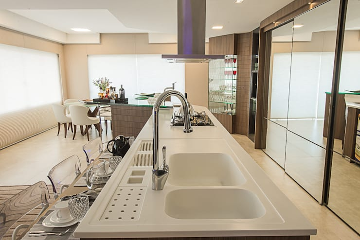Cozinha Cozinhas modernas por Élcio Bianchini Projetos Moderno