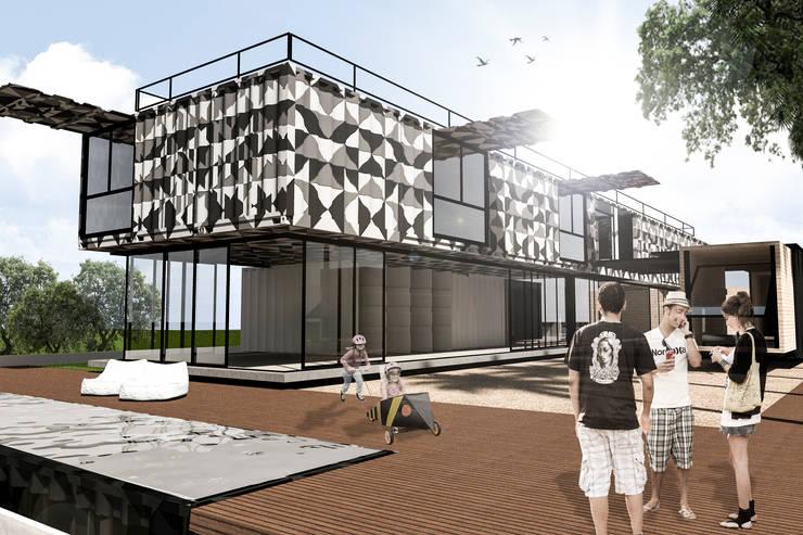 CASA CONTÊINER: Casas modernas por Bruno Rubiano