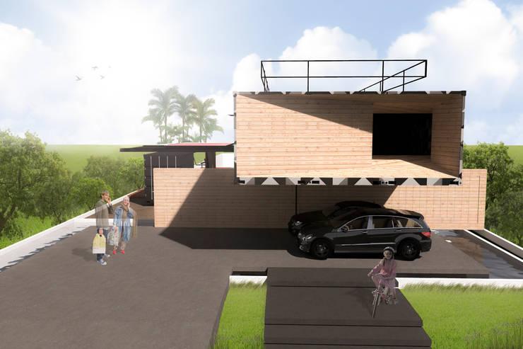 CASA CONTÊINER: Casas  por Bruno Rubiano,