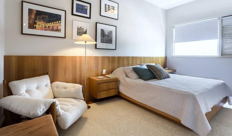 Apartamento Ministro Godói: Quartos  por Natalia Necco Arquitetura