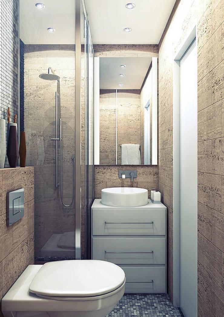 Квартира в Медведково: Ванные комнаты в . Автор – AFTER SPACE